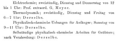 Vorlesungsverzeichnis 1900