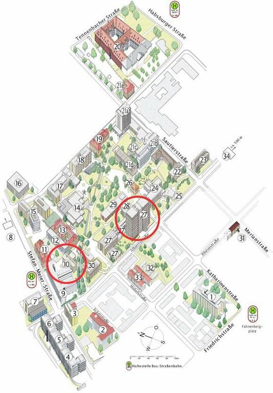 Graphik Institutsviertel Nord